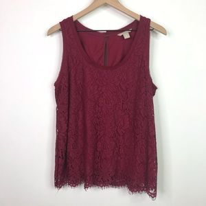 Banana Republic sleeveless lace blouse size medium
